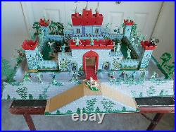 LARGE 34x28 inch Sears Allstate Marx KNIGHTS and VIKINGS CASTLE MOAT SET #4735