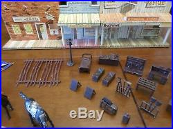 Lot Marx Roy Rogers Western Town Play Set Cowboy Indian Tin Ranch Silver City