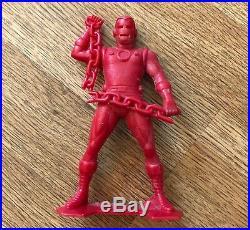 Lot Of 6 1967 Marx Marvel Figures Daredevil Thor Hulk Iron Man Cap Spider-man