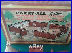 Lot of 2 Louis Marx Fort Apache & Fighting Knights Carry-All Playsets