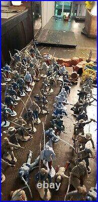 Lot of Vintage Marx Plastic Civil War Soldiers and Accessories