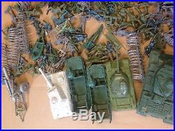Lot of Vintage Plastic Soldiers green Army Men + Marx tanks amphibious landing