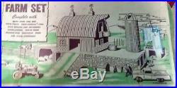 Louis Marx 50's Vintage Tin Farm PlaySet #3953 BOX BARN ANIMALS 170+ PIECES