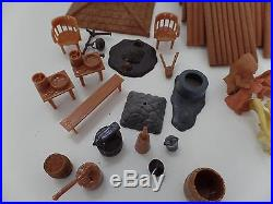 Louis Marx Fort Apache Stockade Play Set Frontiersmen Indians Fence Vtg Lot 80+