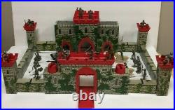 Louis Marx Medieval Castle Fort Playset Rare With Knights Horses Figurines