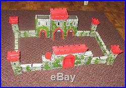 Louis Marx Medieval Castle Fort Playset rare 1956