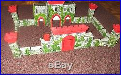 Louis Marx Medieval Castle Fort Playset rare 1956