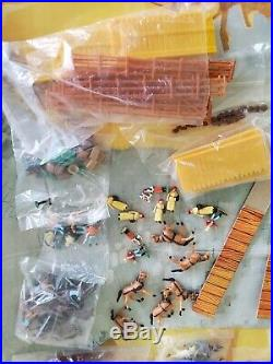 Louis Marx Miniature Playset Western Town EXTREMELY RARE Sealed Contents Vintage