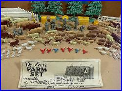 Louis Marx Sears Roebuck Happi Time Farm Playset #3950, Partial Play Set in Box