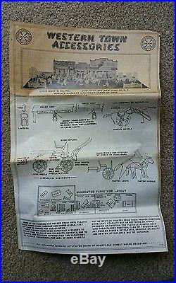 Louis Marx Western Town with Original box, plus