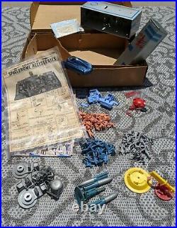 MARX 1950's REX MARS PLANET PATROL PLAY SET EXCELLENT ORIGINAL SPACE TOY BOX