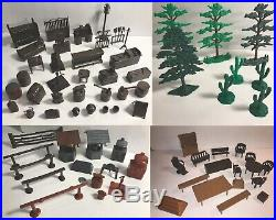 MARX 1950's Roy Rogers Mineral City Western Town, Ranch & Cabin Play sets & MORE