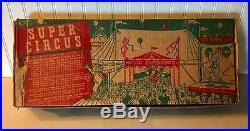 MARX 1952 SUPER CIRCUS #4319 Playset WithBOX BIG TOP CIRCUS