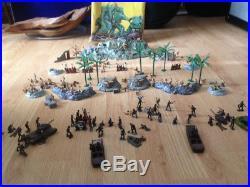 MARX 1963 Miniature Sands of Iwo Jima Play Set in Box