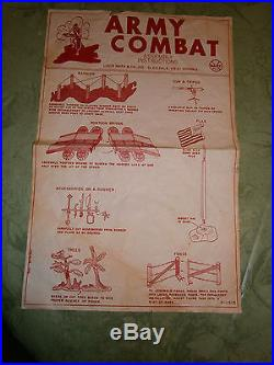 MARX Army Combat 6019 playset Great Shape
