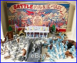 MARX BATTLE OF THE BLUE & GRAY PLAY SET-1962- No. 4658- 99% IN BOX BEAUTIFUL