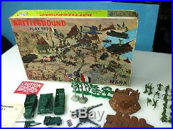 Marx Battleground 4756 Original Complete In Box Rare In This Condition