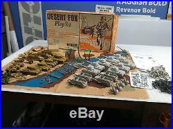 MARX BATTLEGROUND DESERT FOX PLAYSET ORIGINALWithBOX