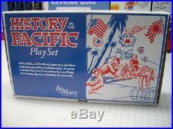 MARX BATTLEGROUND HISTORY IN THE PACIFIC 4164 PLAYSET With HANDMADE RARE ART BOX