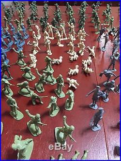 MARX BATTLEGROUND Play Set DESERT FOX Soldiers Tanks Half Tracks MORE 425 PIECES