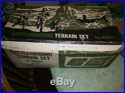 MARX Battleground Terrain set 4184 Great terrain pieces