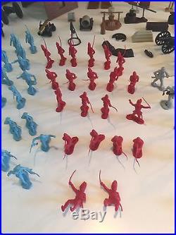 MARX Blue and Gray Civil War, Revolutionary War, Wild West Lot with Box 120+ Pcs
