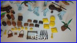Marx Captain Gallant Foreign Legion 54mm 16 Figure Lot Playset Arab Accessories