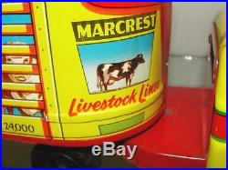 Marx Cattle Truck Livestock Truck Near Mint In Box With Bag And Animals Playset