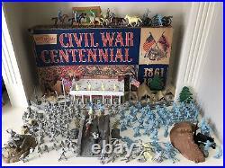 MARX CENTENNIAL BATTLE OF THE BLUE & GRAY PLAY SET No. 5929 99% VG SET WithBOX