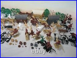 MARX/CTS Western Wagon Train Playset, 54MM Toy Soldiers 168 pieces