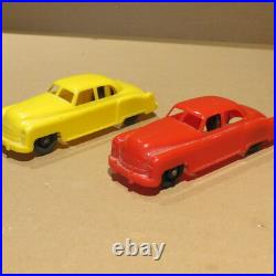 MARX Car Carrier with 2 Hard Plastic Cars, mid 1950's