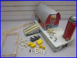 MARX FARM PLAYSET Animals Silo Barn Fence and Other Accessories From Around 1968