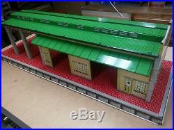 MARX FREIGHT TRUCKING TERMINAL WITH BOX tin litho Train depot 1950s playset