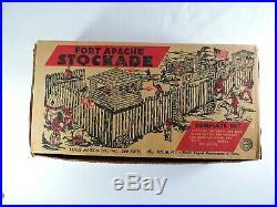 MARX Fort Apache Stockade #3615 play set 60mm vintage 1955 original Cowboys ft