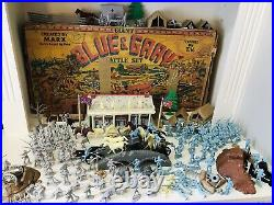 MARX GIANT BATTLE OF THE BLUE & GRAY PLAY SET No. 4764 97% VERY GOOD in BOX