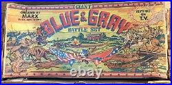 MARX GIANT BATTLE OF THE BLUE & GRAY PLAY SET No. 4764 98% VERY GOOD WithBOX