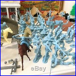 MARX GIANT- BATTLE OF THE BLUE & GRAY PLAY SET -No. 4764- 98% in VG BOX RARE