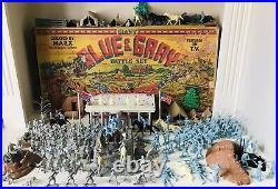 MARX GIANT BATTLE OF THE BLUE & GRAY PLAY SET No. 4764 99% VG GOOD BOX