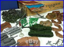 Marx Giant Battleground Playset 1964 Huge Box With Many Items Rare