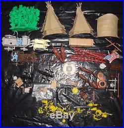 Marx Giant Fort Apache Set 6063 Figures Wagons & Accessories Color Match