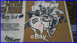 MARX HTF ORIGINAL 1972 CUSTER Battle of Little BigHornPLAYSET BOX Fort Apache