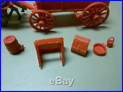 Marx Johnny Ringo/wagon Train Wagon And Accessories