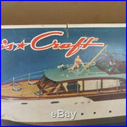 MARX Large Chris Craft model, with 60mm figures, 1960's