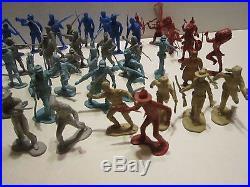 Marx Major Seth Adams & Mixed Lot Of Playset Plastic Figures Dead Horse 96