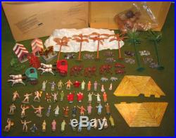 MARX Miniature Ten Commandments Montgomery Wards Playset Figures & Acc WithBox
