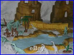 MARX One Million B. C. Playset 1975 #3414 2nd edition dinosaurs cavemen lead free
