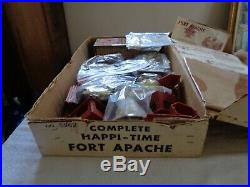 MARX Orig. 5962 Rare Ft Apache Complete playset from 1962 Excellent Near Mint