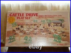 MARX Orig. Cattle Drive Playset 3983 Mint Condition