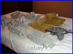 MARX Orig. Desert Fox, Desert Patrol American, German Armor and German fig Ex