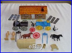 MARX Orig. Rare #4779 Custer Last Stand play set Excellent